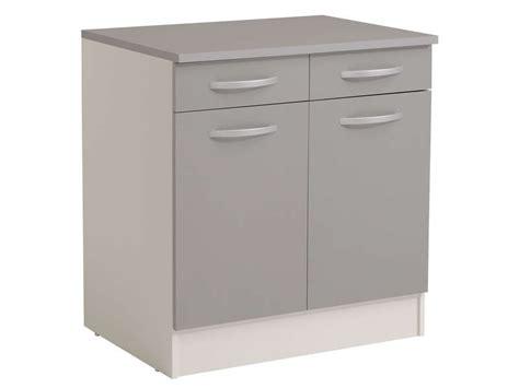 conforama meubles cuisine meuble bas 80 cm 2 portes 2 tiroirs spoon color coloris gris vente de meuble bas conforama