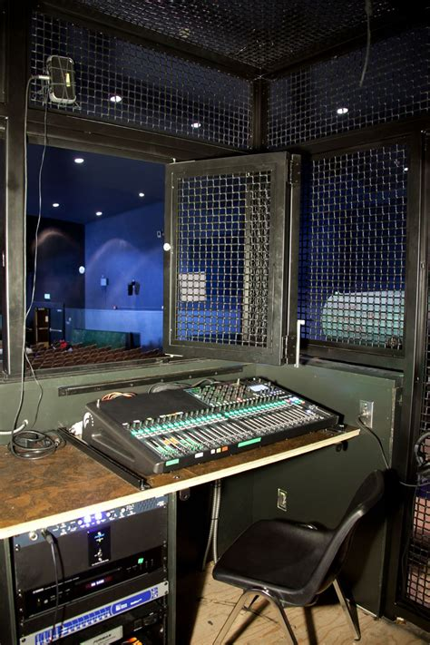cladding fireplace sound lighting booth fusion metals