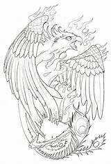 Tattoo Coloring Phoenix Tattoos Evil Pages Sleeve Template татуировки Drawings Fenix волком Drawing Floral Sketches Outline Desenho Azcolorir Templates sketch template