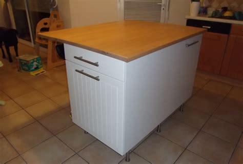 table de cuisine avec plan de travail fabriquer ilot central sur mesure avec laboutiquedubois com
