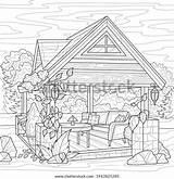 Antistress Gazebo sketch template