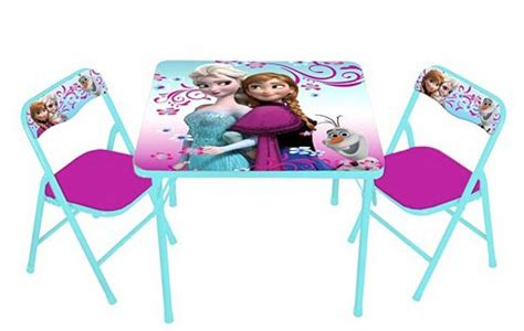 frozen elsa olaf activity table chair set only