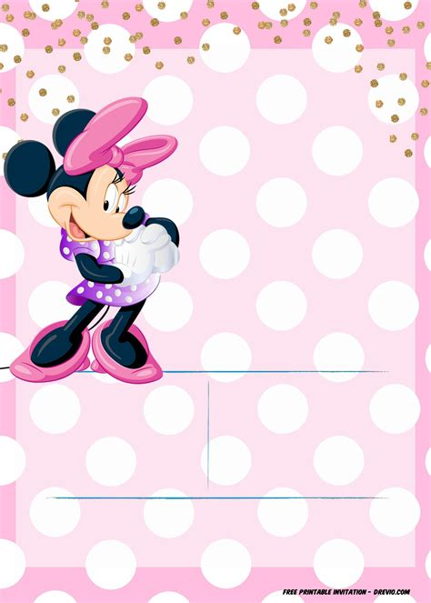 Minnie Mouse Template Invitation by Minnie Mouse Invitation Template Editable And Free
