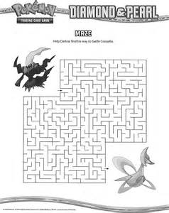 Pokemon Maze Printable Activity Coloring Pages
