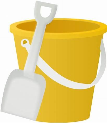 Bucket Clipart Sand Shovel Svg Toy
