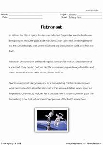 Astronaut Reading Comprehension Worksheets (page 2) - Pics ...