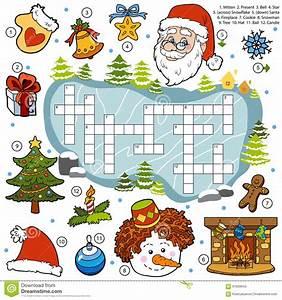 Spiele Für Weihnachten : f rben sie kreuzwortr tsel bildungsspiel f r kinder ber weihnachten vektor abbildung bild ~ Frokenaadalensverden.com Haus und Dekorationen
