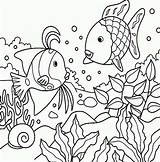 Coloring Fish Sea Pages Print sketch template