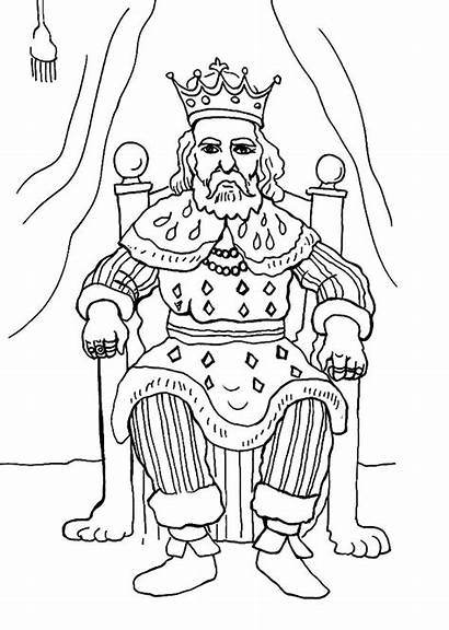 King Coloring Draw Pages