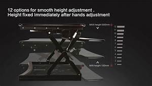 Sit Standing Height Adjustable Desk Ergo Riser Adr For