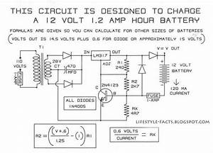 A Simple 12v Battery Charger Schematic Using Lm317