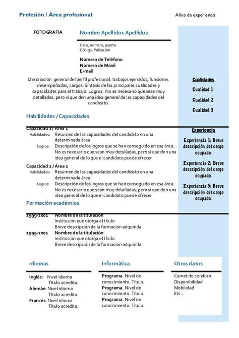Modelos De Resume Gratis by Modelos De Curriculum Vitae Image King