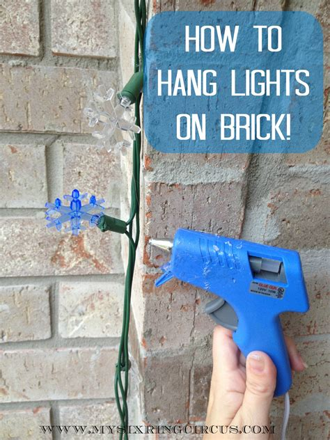 hanging lights on brick now easy