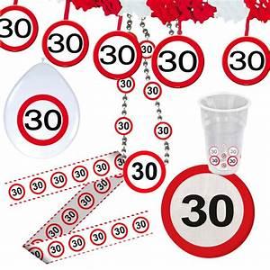 30 Dinge Zum 30 Geburtstag : 30 geburtstag verkehrsschild party deko erwachsene geburtstagsdeko p ~ Bigdaddyawards.com Haus und Dekorationen