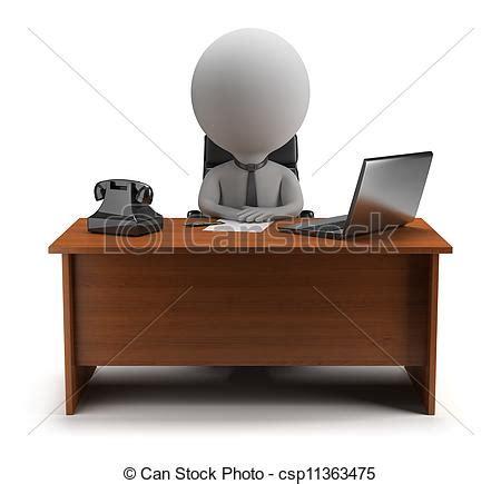 stock bureau direct illustrations de petit directeur 3d gens 3d petit