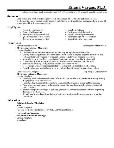 Healthcare Resume Tips by Field Resume Exles Resume Exles Sle
