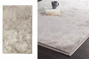 Maison Du Monde Tapis Enfant : tapis en tissu gris doux pour le salon maisons du monde ~ Teatrodelosmanantiales.com Idées de Décoration
