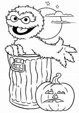 Halloween Coloring Pages Printable Street Sheets Print Printables Throughout Internet Found Own Any These Sheet Oscar Sesame sketch template