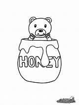 Honey Pote Coloring Mel Pot Desenho Jar Colorir Bear Printable Ursinho Dentro Template Kinder Tudodesenhos Sponsored Links Honig Ausmalen Imprimir sketch template