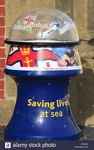 A charity donation collection box for the Royal National ...