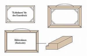 Bilderrahmen Selber Bauen : anleitung kunstdruck bilderrahmen selber bauen ~ Lizthompson.info Haus und Dekorationen