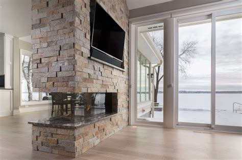 Room Definer Peninsula Modern Fireplaces Flare Fireplaces