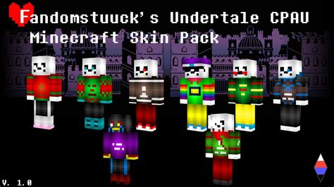 Fandomstuuck's Undertale Cpau Minecraft Skin Pack! By