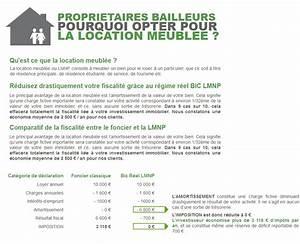 fiscalite de la location meublee et comparatif With declaration fiscale location meublee