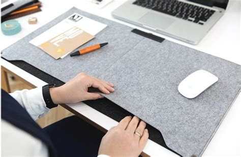full desk mouse mat 2016 new felt sleeve laptop desk mat fashion durable