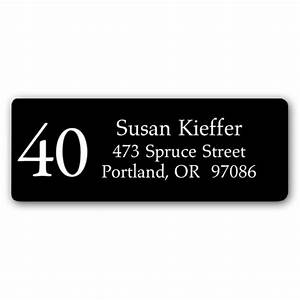 forty black return address labels paperstyle With black mailing labels