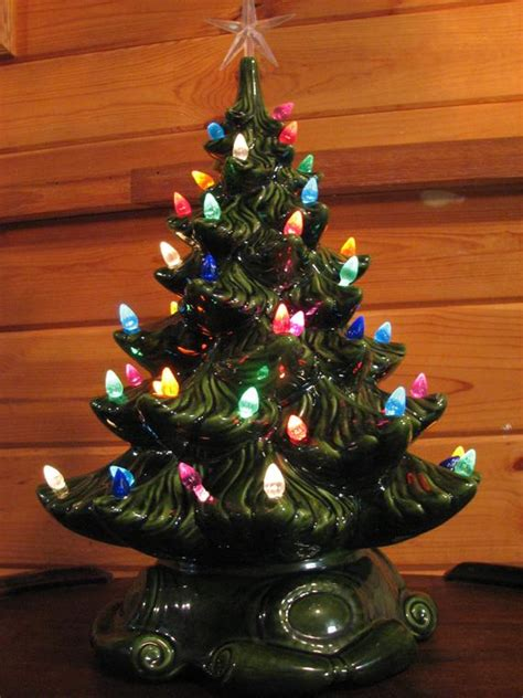 21 atantic mold flocked ceramic christmas tree vintage atlantic mold ceramic tree by redsrustyrelics