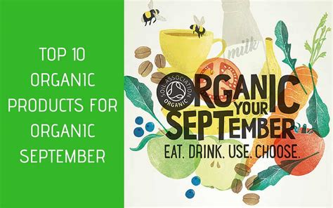 organic september national awareness days calendar
