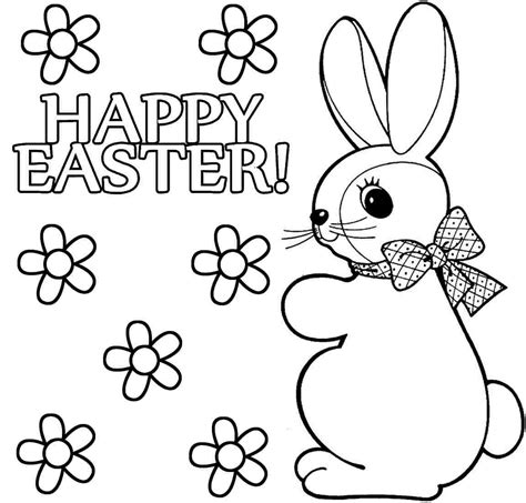 happy easter coloring pages coloringsuitecom