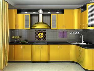 yellow kitchen cabinets pictures ideas home design With best brand of paint for kitchen cabinets with honey bee stickers