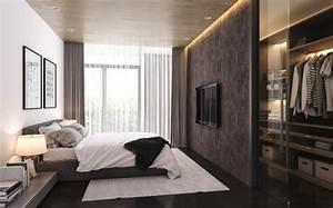 Kleiderschrank Tv Integriert : 21 id es de d coration de chambres simples et pur es ~ Lizthompson.info Haus und Dekorationen