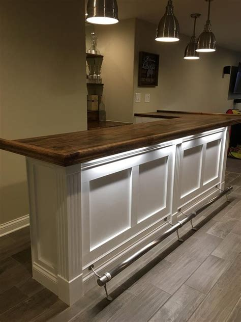 Home Bar Makeover by Finished Bar Photo Gallery Bar Rails Parts In 2019