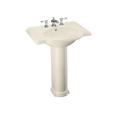 Pedestal Sinks Home Depot by Kohler Devonshire Pedestal Combo Bathroom Sink In Almond K