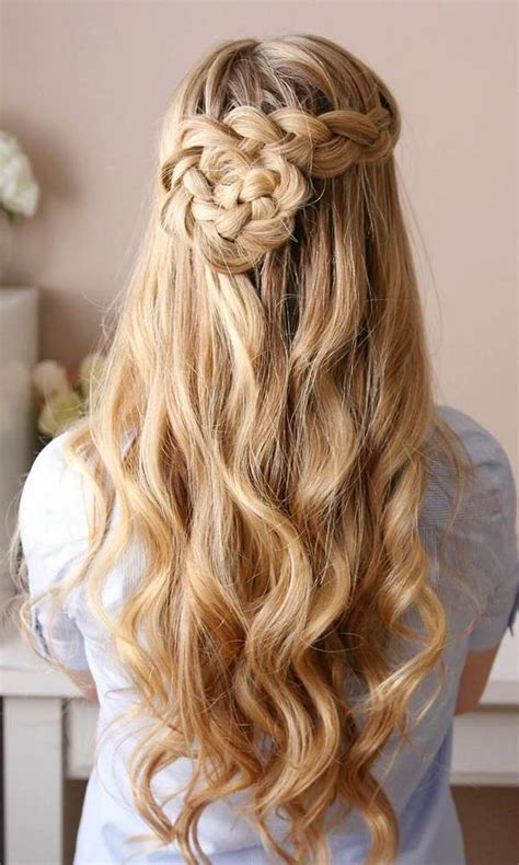 prom hairstyles for long straight hair down hairstyles