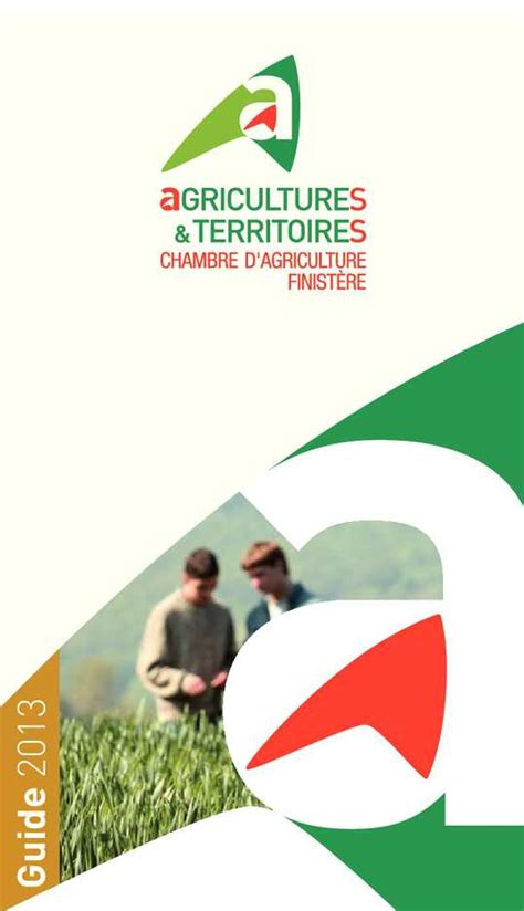 chambre d agriculture finist鑽e calam 233 o guides des services 2013 chambre d agriculture