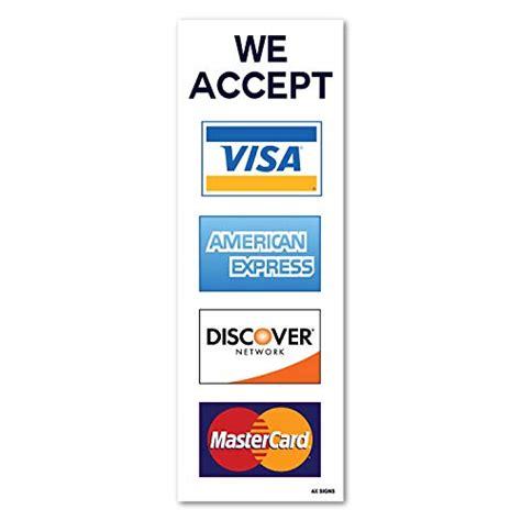 credit card signs amazoncom