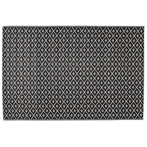 tapis d ext 233 rieur en polypropyl 232 ne noir blanc 120 x 180 cm