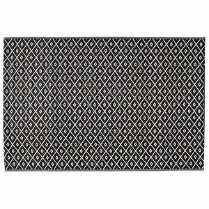 tapis d39exterieur en polypropylene noir blanc 120 x 180 cm With tapis d extérieur en polypropylène