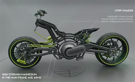 Futuristic Porsche 618 Electric Motorcycle Concept
