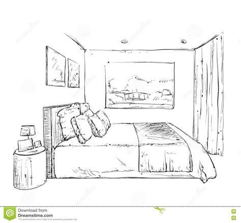 croquis chambre a coucher croquis tiré par la d 39 intérieur de chambre à coucher