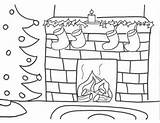 Coloring Fireplace Christmas Pages Drawing Chimney Tree Sheets Fire Stocking Fireplaces Drawings Activities Bookmark Colorings Navidad Dibujos Colors Read Related sketch template