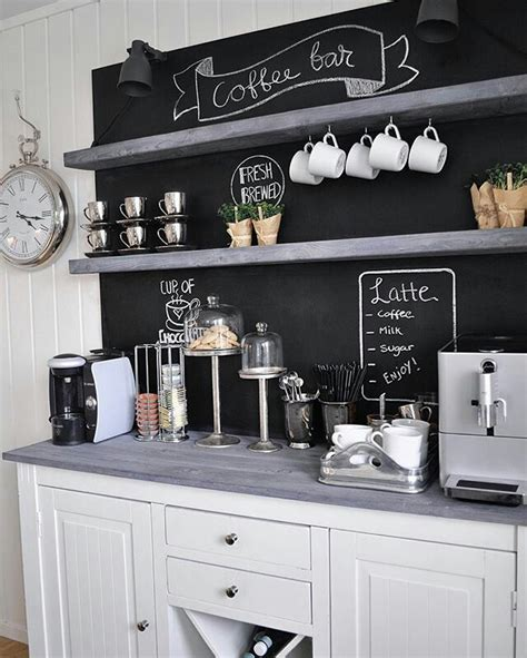 When sprucing up your home it's fun to explore the best coffee bar ideas out there. Pin by Marline Smallwood on Coffee bar   Coffee bar home, Coffee bars in kitchen, Bars for home