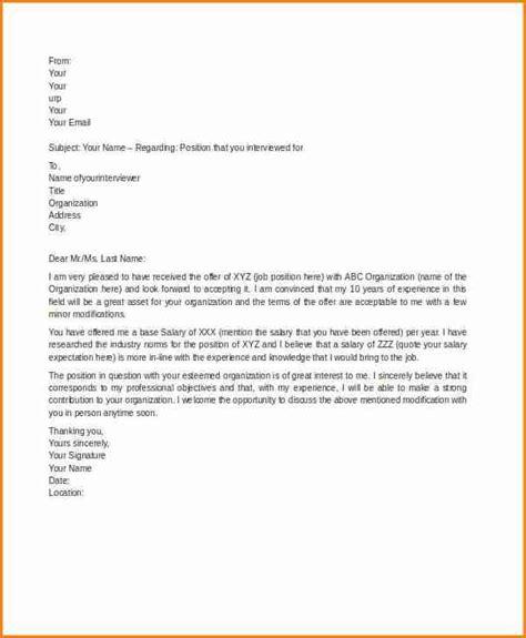 counter offer letter salary simple salary slip