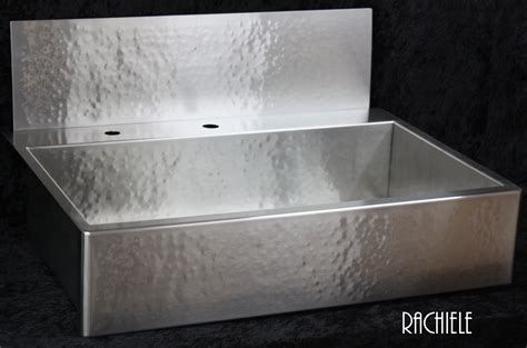 stainless apron front sink rachiele custom hammered stainless apron front sinks made