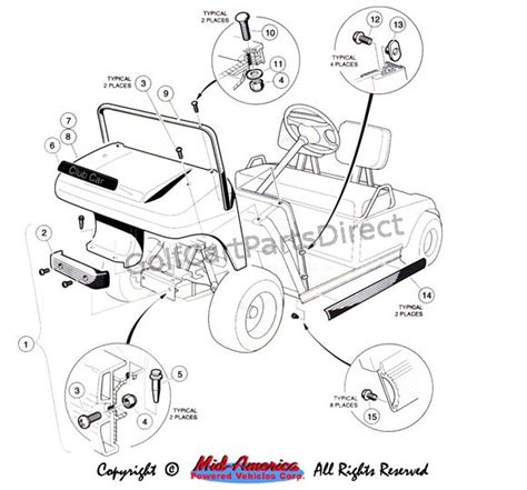 1992 1996 club car ds gas or electric golfcartpartsdirect