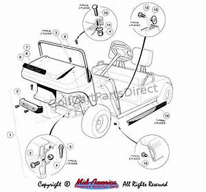 1992-1996 Club Car Ds Gas Or Electric
